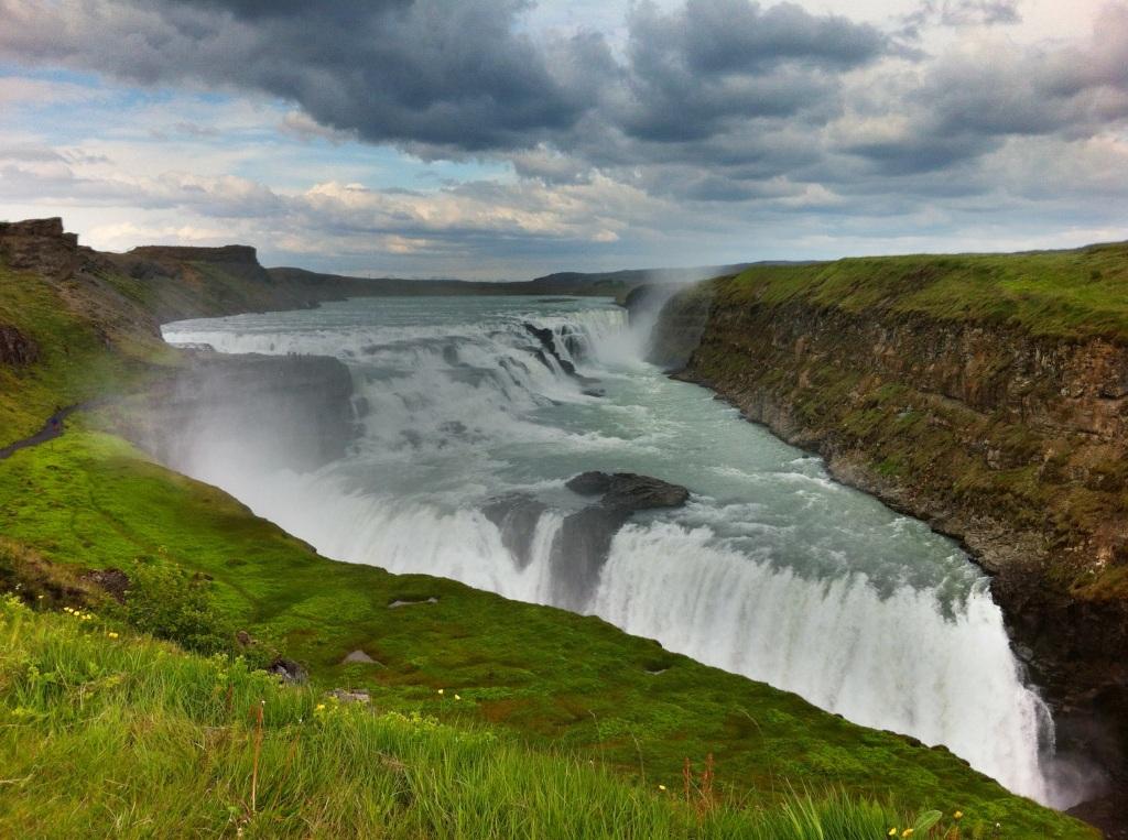 """Gullfoss. The """"foss"""" in Gullfoss means """"falls"""" so saying Gullfoss Falls is redundant."""