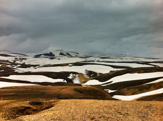 Rhyolite hills. Yes, that is snow, and it is June. Come prepared for all weather in mountainous areas